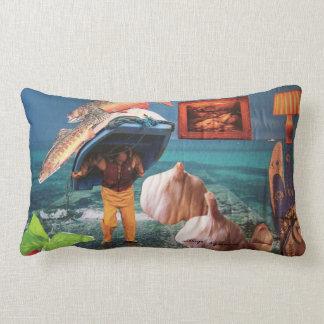 Soporte lumbar con las ilustraciones del collage almohada