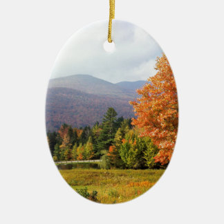 Soporte Mansfield Vermont del árbol Adorno Ovalado De Cerámica