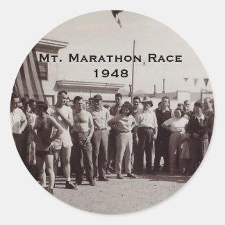 Soporte Marathon-1948 Pegatina Redonda