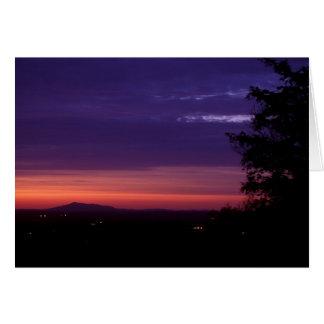 Soporte Monadnock del crepúsculo de la montaña de Tarjeta De Felicitación
