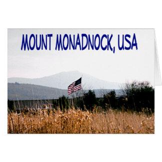 Soporte Monadnock los E.E.U.U. Tarjeta De Felicitación