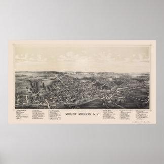Soporte Morris mapa panorámico de NY - 1893 Impresiones