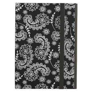Soporte negro y blanco elegante de la caja del