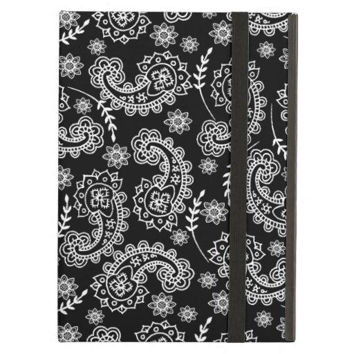Soporte negro y blanco elegante del caso del iPad