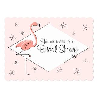 """Soporte nupcial de la ducha del diamante rosado invitación 5"""" x 7"""""""