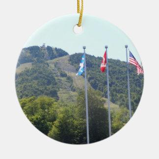 Soporte Orford, Quebec - ornamento del árbol de Adorno Navideño Redondo De Cerámica