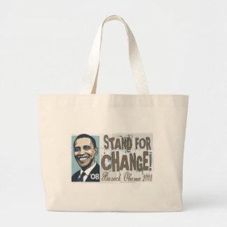 Soporte para el bolso del cambio bolsa tela grande