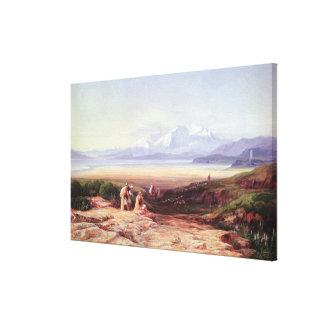 Soporte Parnassus, lago Cephissus y los llanos de Impresión En Lona