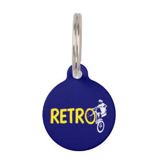 Soporte retro de la rueda de la bici de montaña placas para mascotas
