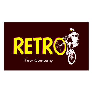 Soporte retro de la rueda de la bici de montaña tarjetas de visita