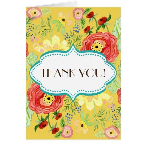 Soporte subió hoja floral moderna del ranúnculo de tarjeta de felicitación
