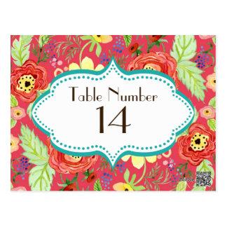 Soporte subió hoja floral moderna del ranúnculo de tarjeta postal