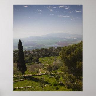 Soporte Tabor, sitio de la transfiguración bíblica Póster