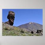 Soporte Teide en las islas Canarias Póster