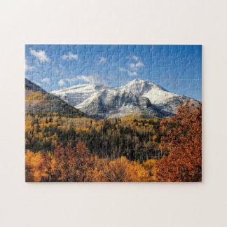 Soporte Timpanogos en las montañas de Utah del Puzzle