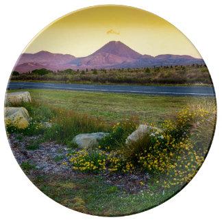 Soporte Tongariro, Nueva Zelanda Platos De Cerámica