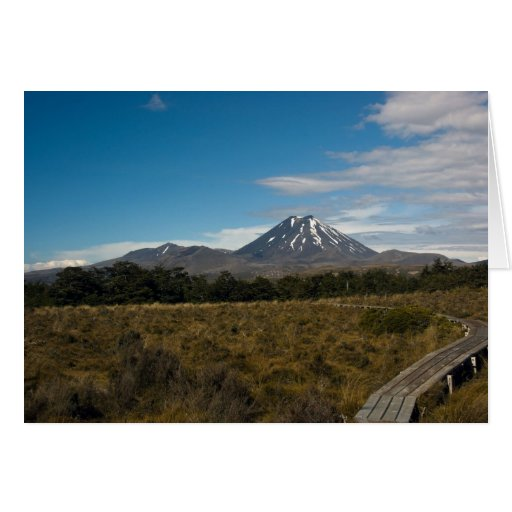 Soporte Tongariro y tarjeta de Ngauruhoe del sopor