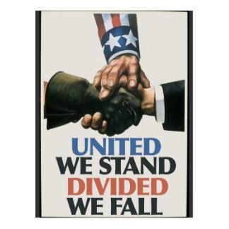 Soporte unido de las uniones tarjeta postal