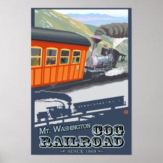 Soporte Washington, nuevo ferrocarril de Hampshire Póster