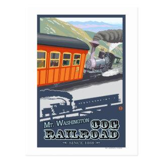 Soporte Washington, nuevo ferrocarril de Postales