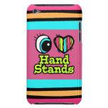 Soportes brillantes de la mano del amor del corazó iPod touch protector