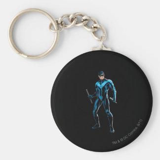 Soportes de Nightwing Llavero Redondo Tipo Pin