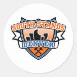 Soportes del sur Denver Fancast Etiquetas Redondas