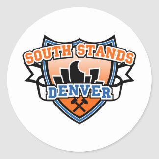 Soportes del sur Denver Fancast Etiqueta Redonda