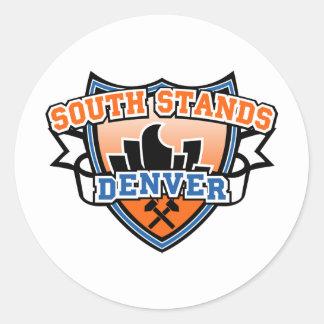 Soportes del sur Denver Fancast Pegatina Redonda