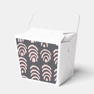 Soportes redondeados del gris rosado de X Cajas Para Detalles De Boda