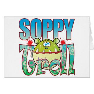 Soppy Troll Greeting Card
