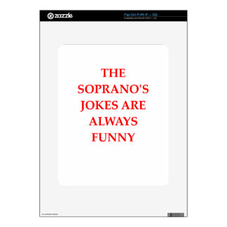 SOPRANO DECALS FOR THE iPad