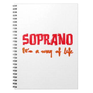 Soprano es una manera de vida cuadernos