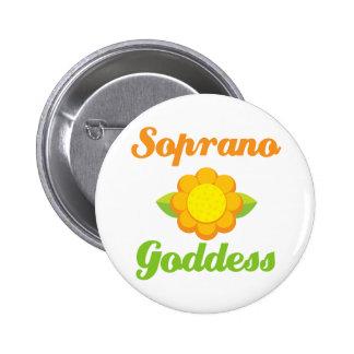 Soprano Goddess Pinback Button