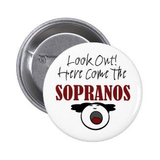 Soprano Pinback Button
