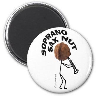 Soprano Sax Nut Magnets