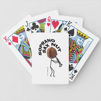 Soprano Sax Nut Playing Cards