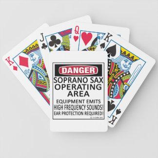 Soprano Sax Operating Area Bicycle Poker Deck