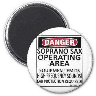 Soprano Sax Operating Area Refrigerator Magnets