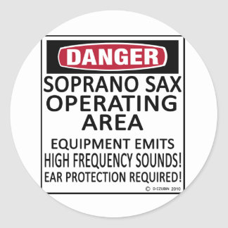 Soprano Sax Operating Area Sticker