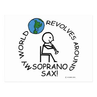 Soprano Sax - World Revolves Around Postcard