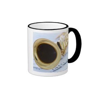 Soprano Saxophone Ringer Coffee Mug