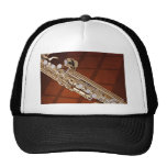 Soprano Saxophone On Gold Mesh Hat