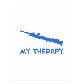 Soprano saxophone therapy postcard