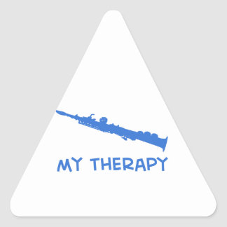 Soprano saxophone therapy triangle sticker
