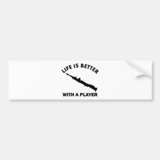 Soprano Saxophone vector designs Bumper Sticker