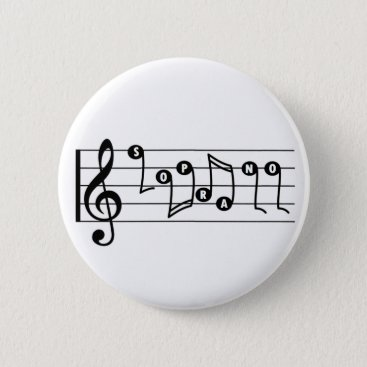 Professional Business Soprano Singer Musical Button