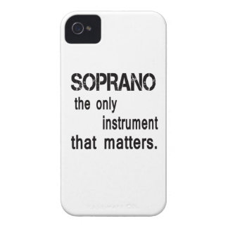 Soprano the only instrument that matters. iPhone 4 Case-Mate case