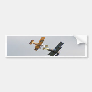 Sopwith Camel and Fokker D.VII Models Bumper Sticker