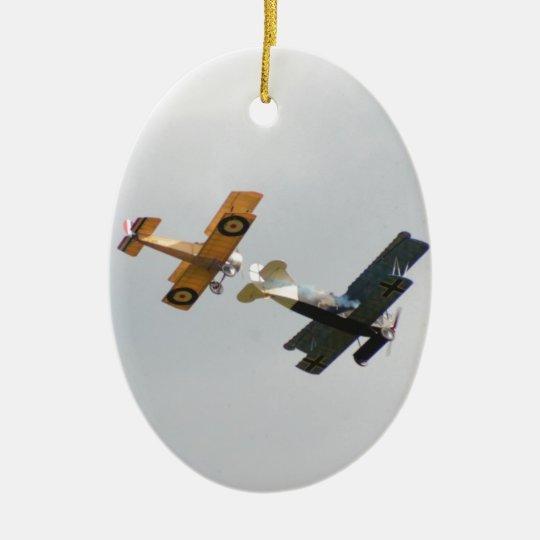 Sopwith Camel and Fokker D.VII Models Ceramic Ornament